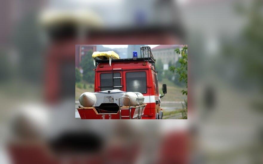 Miško gaisrą Jurbarko rajone gesino kariai