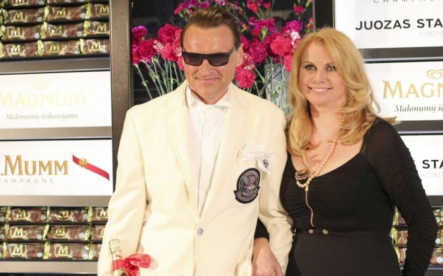 Ž. Grigaitis su žmona Elle