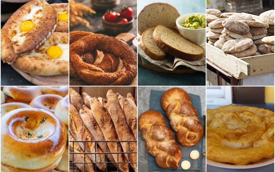 50 duonos rūšių iš viso pasaulio
