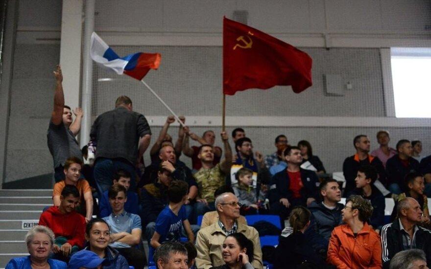 Sovietų Sąjungos vėliava rankinio rungtynėse