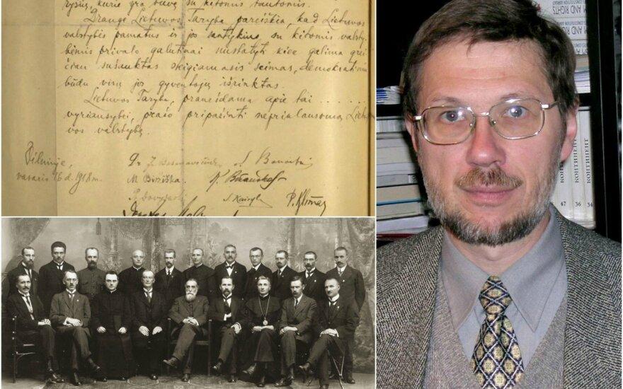 February 16 Act, the Signatories and Prof. Liudas Mažylis