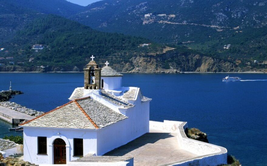 Bažnytėlė Graikijos Skopelos saloje