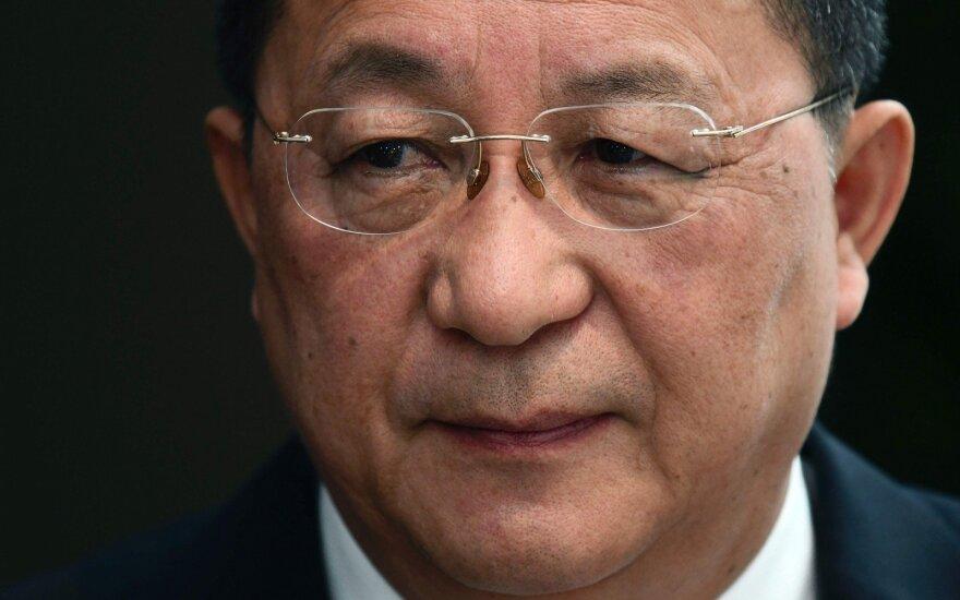 Šiaurės Korėjos užsienio reikalų ministras atvyko į Švediją