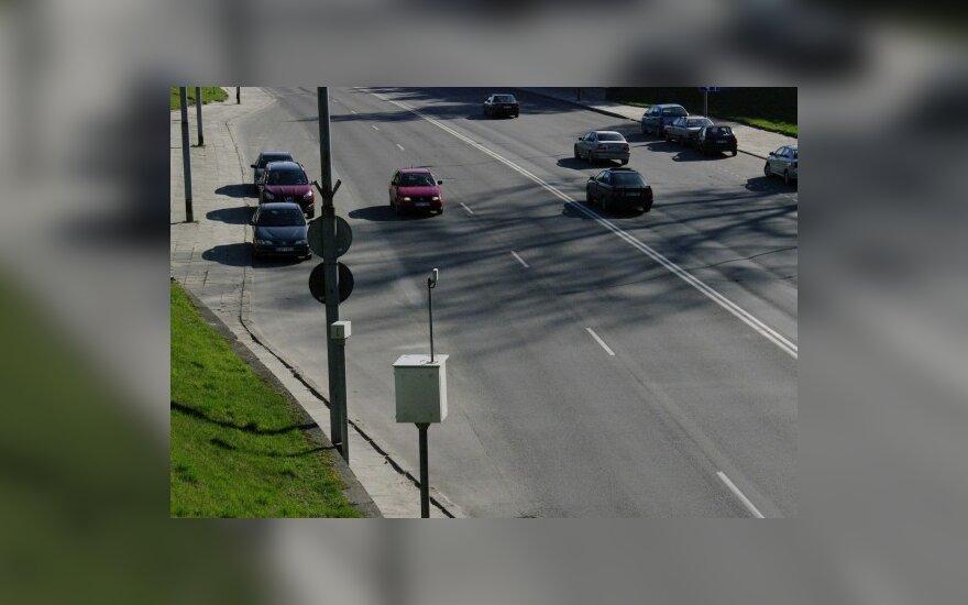 Vilniuje vairuotojai dažniausiai greitį viršija Ukmergės g.
