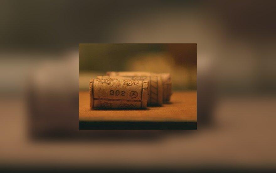 Vynas, vyno butelių kamščiai, alkoholis
