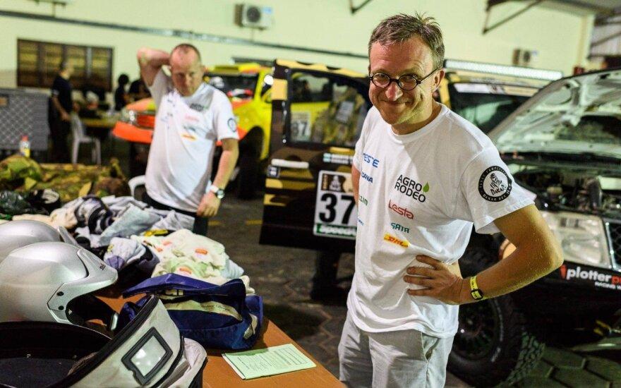 """Dakaro šturmanas S. Jurgelėnas: pirmos penkios dienos bus labai """"galingos"""""""