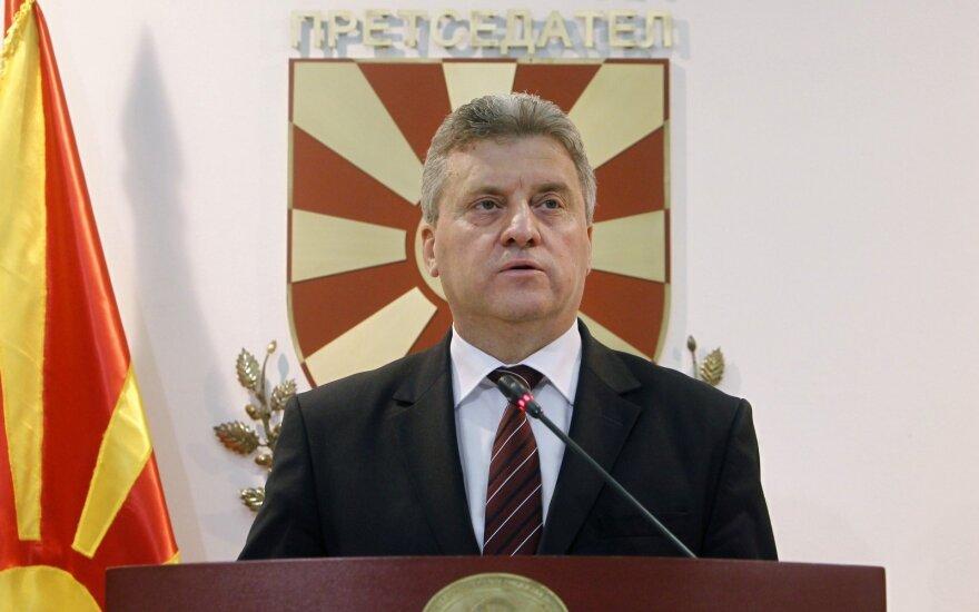 Makedonijos prezidentas apkaltino ES nesąžiningumu