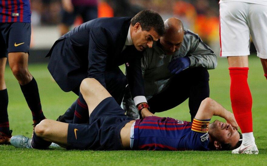 Ispanijoje – skausminga Messio trauma, kuri užtemdė svarbią pergalę