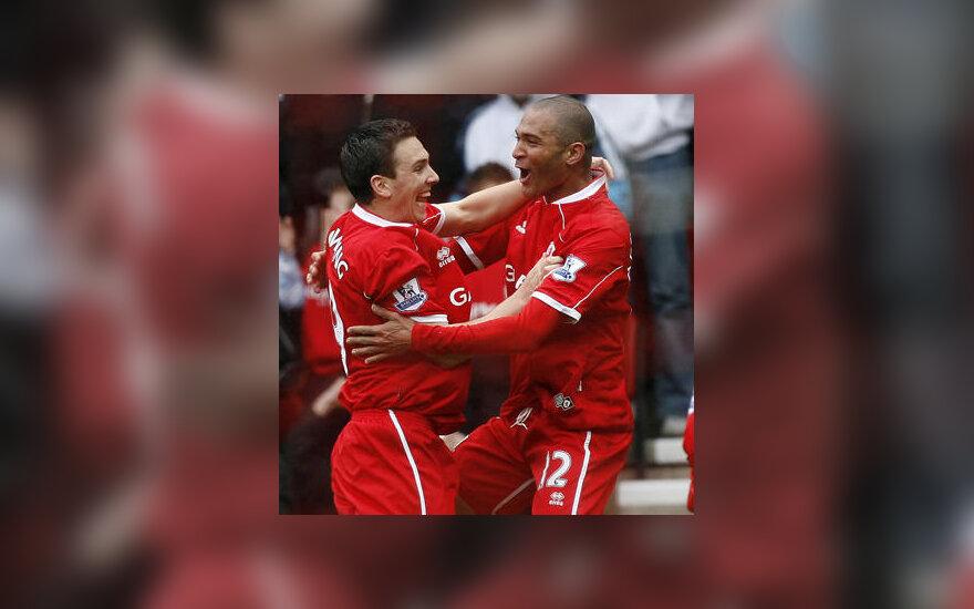 """""""Middlesbrough"""" futbolininkai džiaugiasi įvarčiu"""