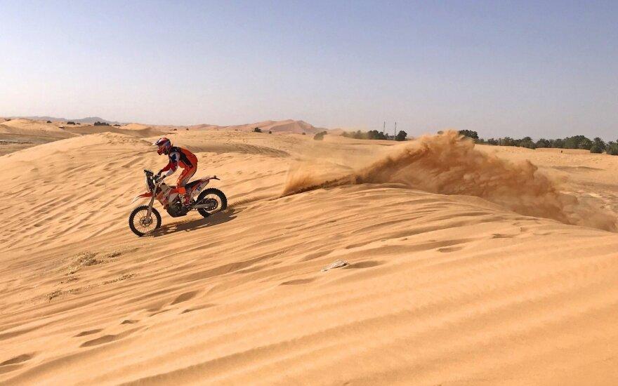 Mažasis Dakaras: vienintelis Lietuvos atstovas kyla į viršų