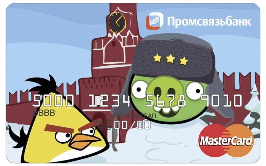 Angry Birds kortelė