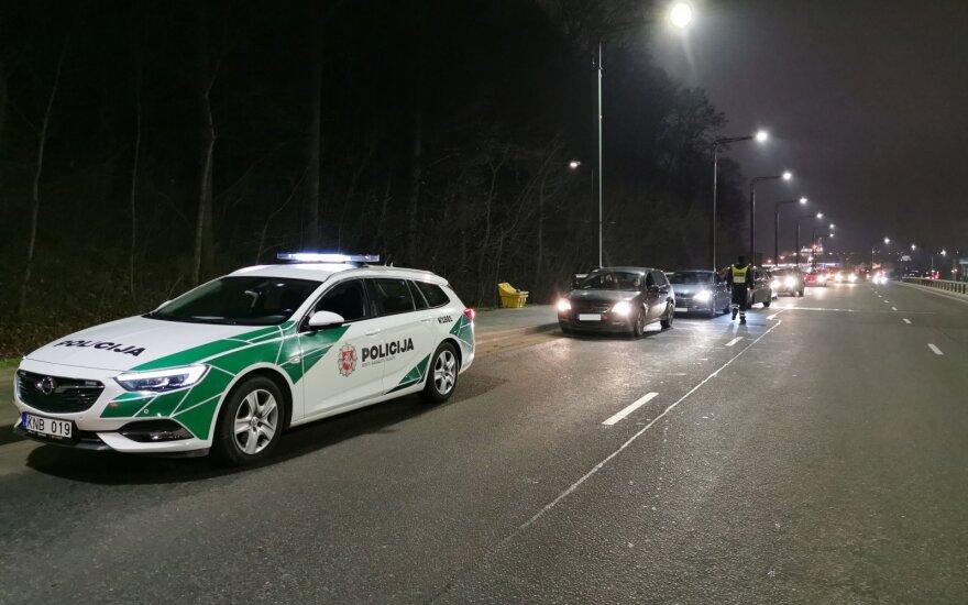 Kauno kelių policija surengė reidus: patikrinti 1173 vairuotojai, blaivūs buvo ne visi