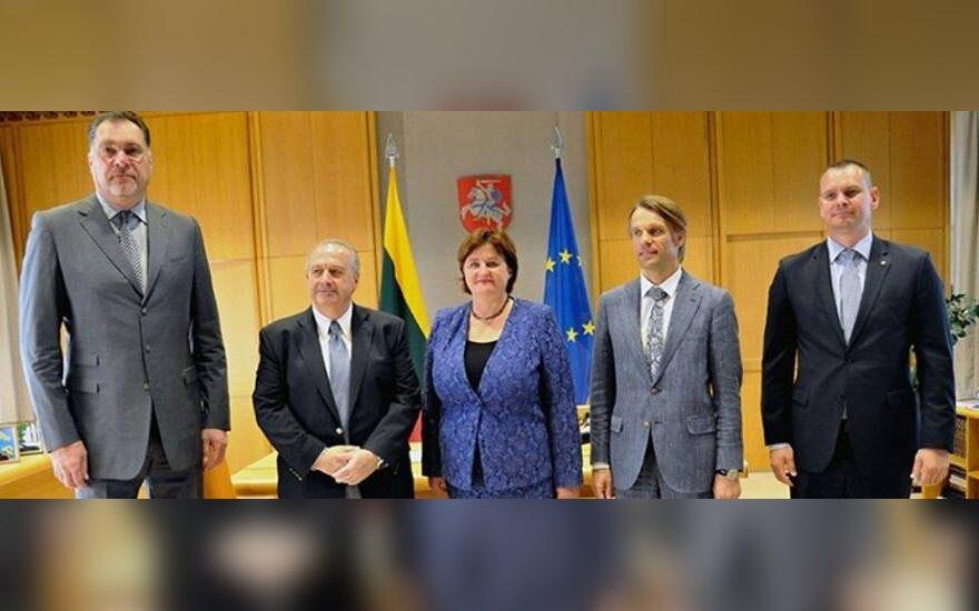 Arvydas Sabonis, Horacio Muratore, Loreta Graužinienė, Edis Urbanavičius ir Mindaugas Špokas (A. Petrulevičiaus nuotr.)