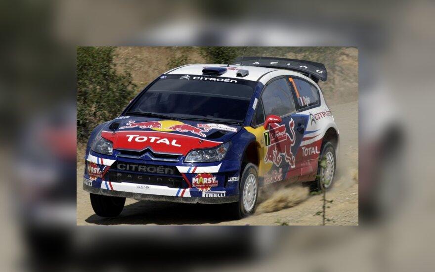 "Sebastienas Ogier ir Julienas Ingrassia su ""Citroen C4 WRC"""
