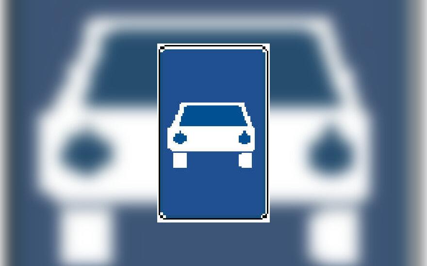"""Kelių ženklas """"Automobiliams skirtas kelias"""""""