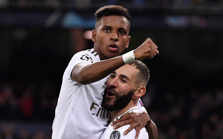 """UEFA Čempionų lygoje – 18-mečio """"Real"""" talento benefisas ir gynėjas """"Man City"""" vartuose"""