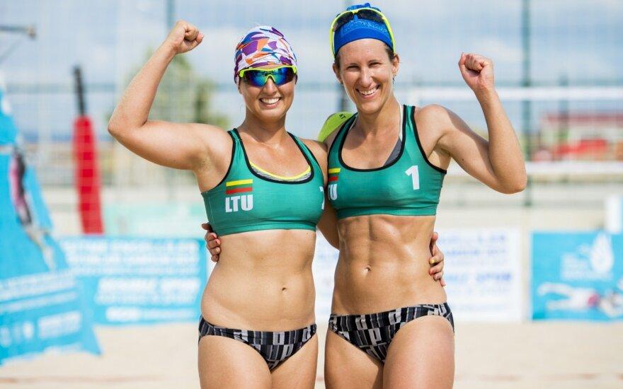 Lietuvos paplūdimio tinklininkės kovos dėl kurčiųjų olimpinių žaidynių aukso