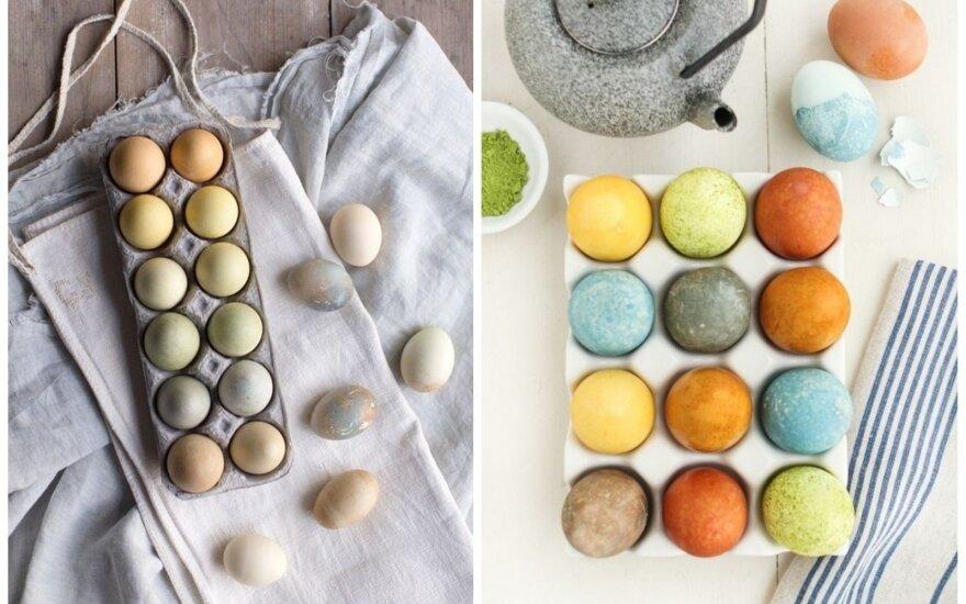 Kiaušinių dažymas arbata