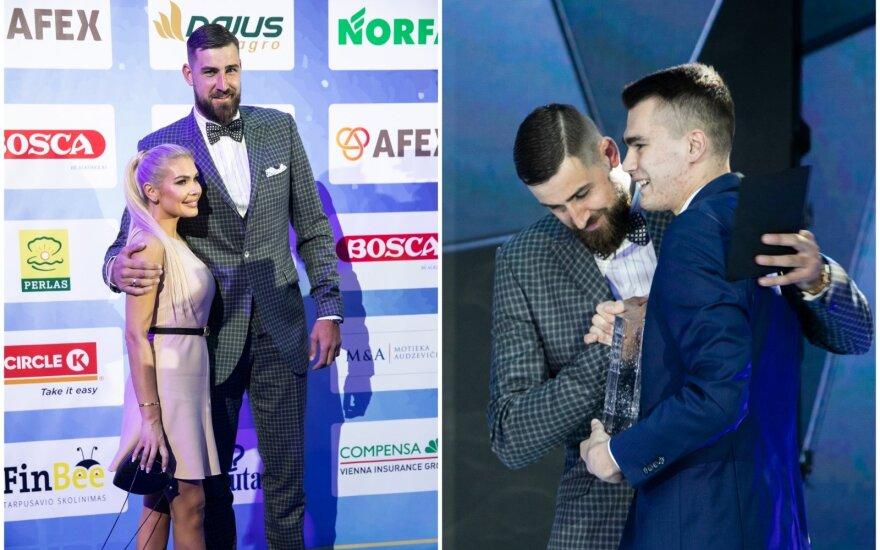 Jonas Valančiūnas su žmona, Jonas Valančiūnas ir Gytis Masiulis