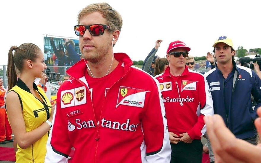 """Ferrari"" lieka tiek S. Vettelis, tiek K. Raikkonenas"