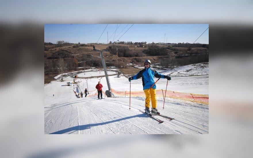 """Anykščių kalnų slidinėjimo centras """"Kalita"""" baigė slidinėjimo sezoną"""
