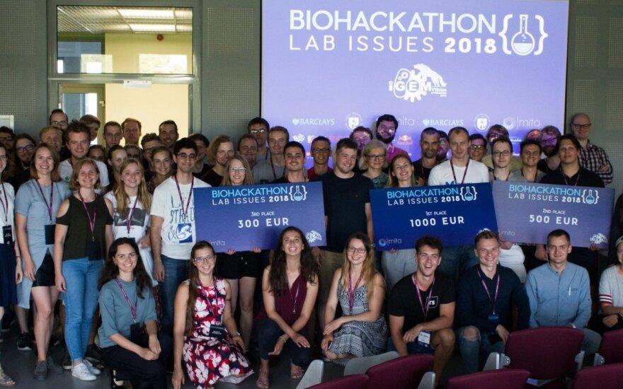 Pirmųjų tarptautinių gyvybės mokslų programavimo varžybų dalyviai, nugalėtojai ir organizatoriai