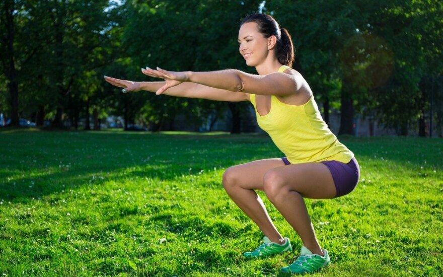 Sultingų kūno formų treniruotė
