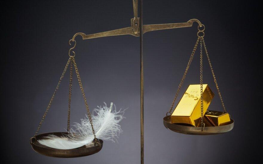 Aukso kaina padidėjo, o ją dar labiau kilstelėti gali FED pozicija dėl palūkanų normų