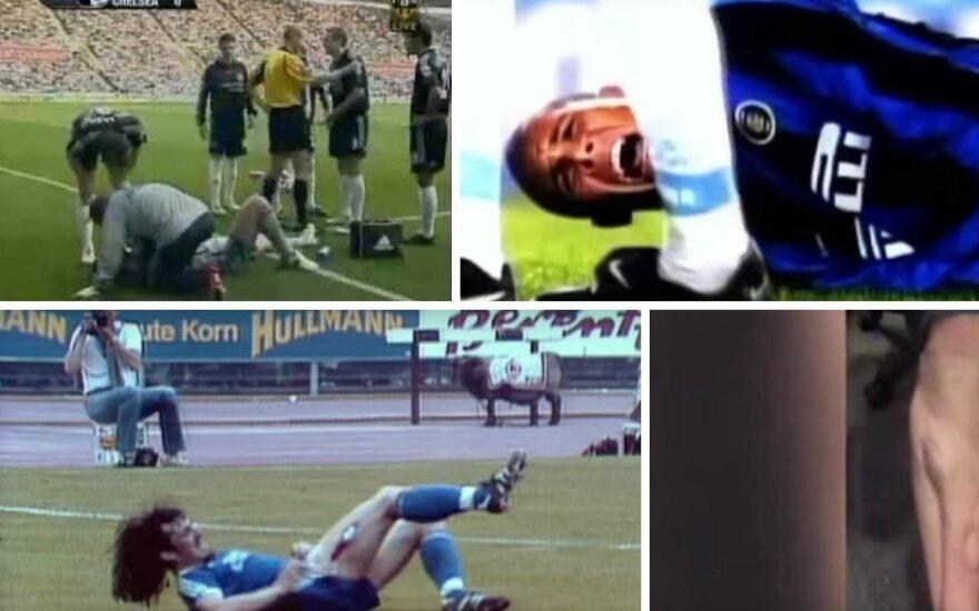 Šiurpiausios traumos futbolo istorijoje