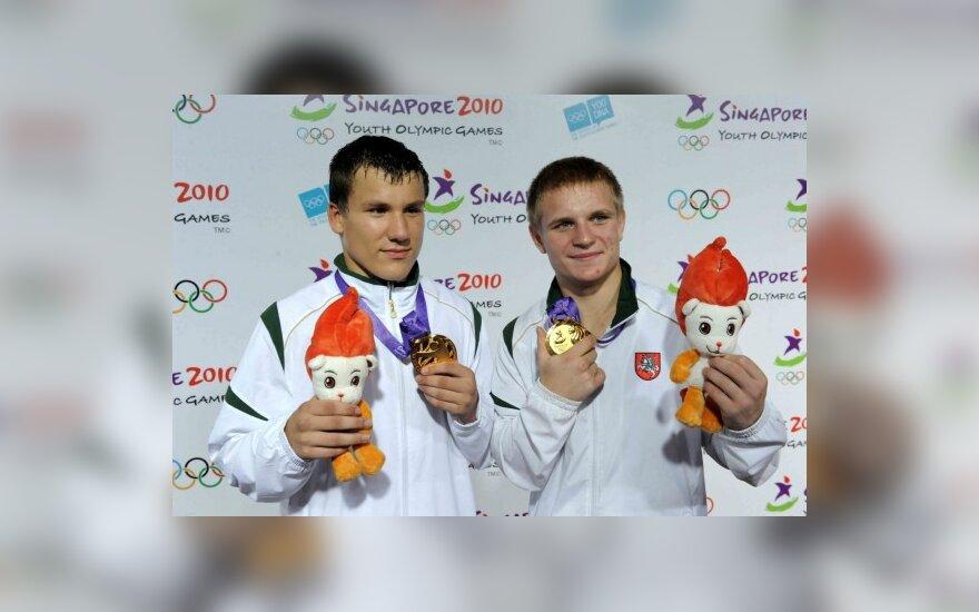 R.Kuncaitis ir E.Petrauskas – jaunimo olimpiniai čempionai