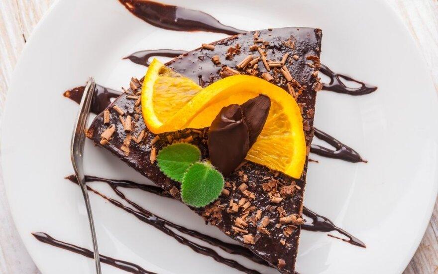 Šokoladinis tortas su apelsinais