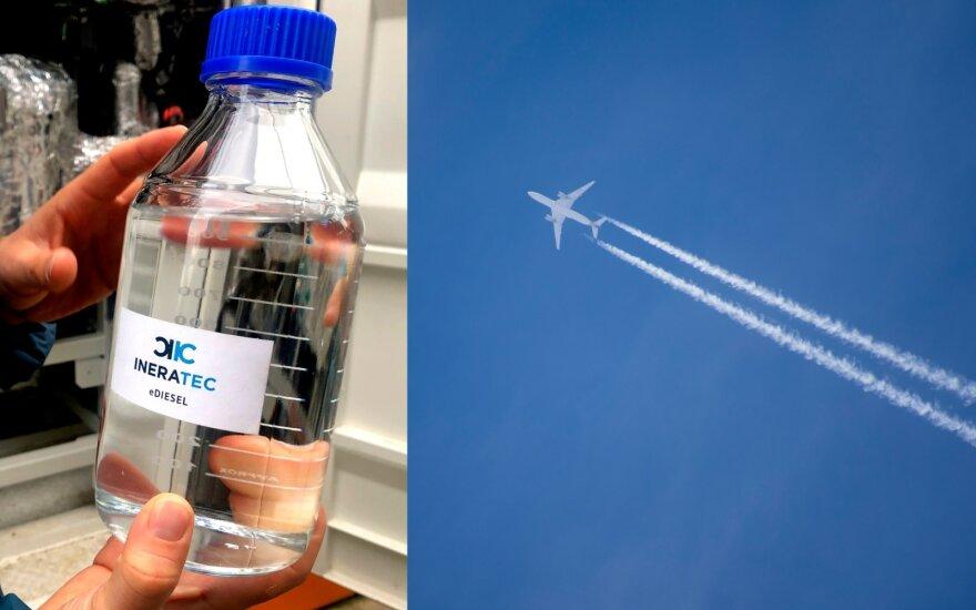 Vokietijoje jau gaminamas dirbtinis aviacinis kuras. Scanpix/Sutterstock asociatyvi nuotr.