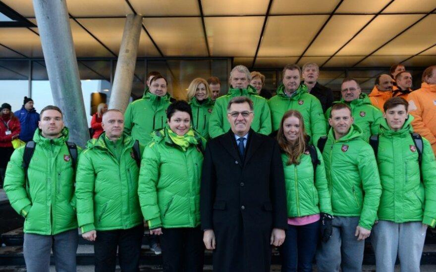 Ministras Pirmininkas Algirdas Butkevičius su Lietuvos olimpine delegacija