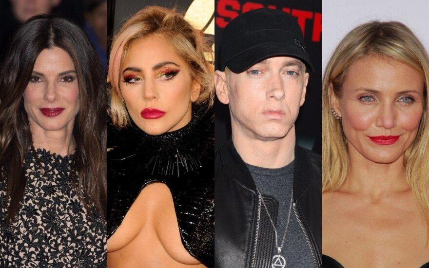 Sandra Bullock, Lady Gaga, Eminem, Cameron Diaz