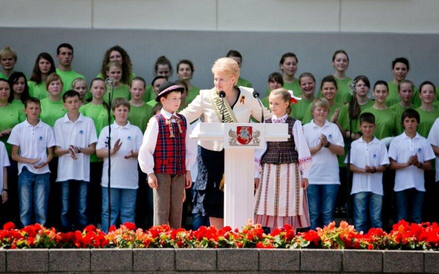 Prezidentė: visa Lietuva turi pareigą tradicijai, kurią sukūrė Mindaugas