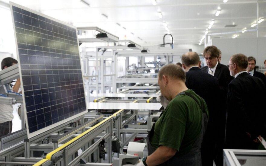 Fotoelektrinių modulių gamybos linijos atidarymo ceremonija