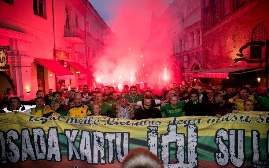 Nuo trečiadienio baruose geriantiems škotams Lietuvos <em>ultros</em> davė atsaką