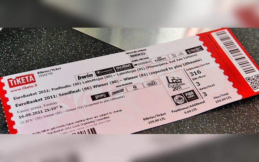 Europos čempionato bilietas