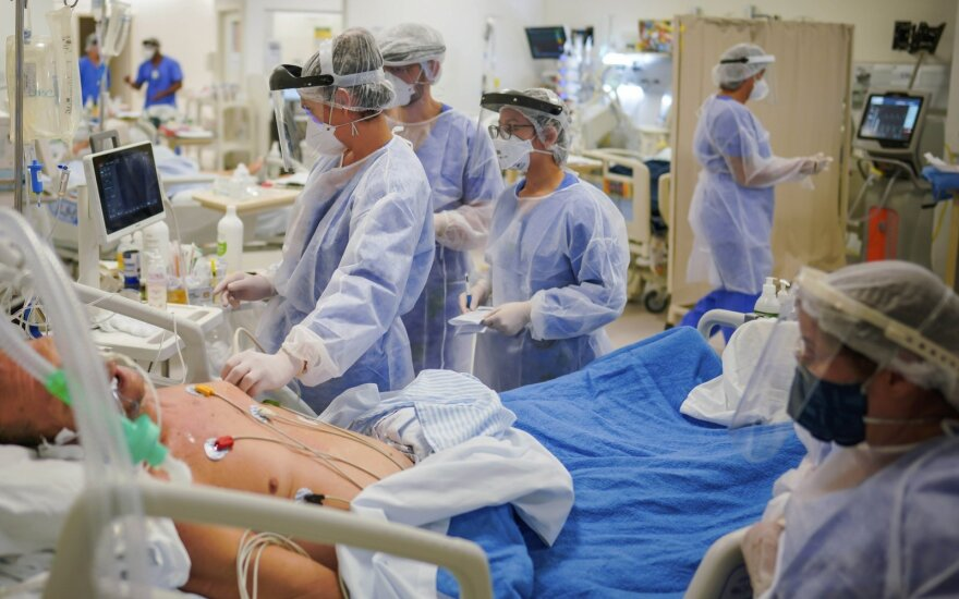 COVID-19 reanimacijos skyrius Brazilijos ligoninėje