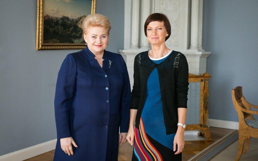 Dalia Grybauskaitė and Monika Garbačiauskaitė-Budrienė