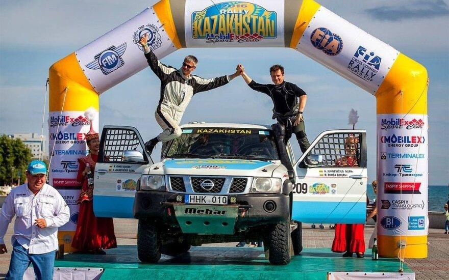 Kazachstano ralyje – šeimininko pergalė, A. Juknevičius – pirmas standartinėje klasėje