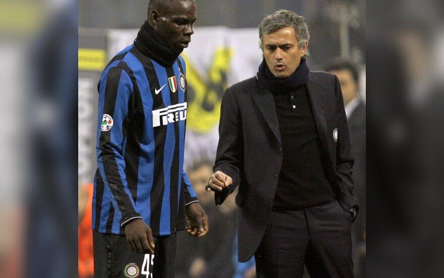 Jose Mourinho ir Mario Balotelli
