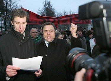 Algirdas Paleckis su rėmėjais