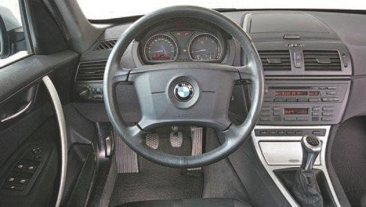 BMW X3 salonas