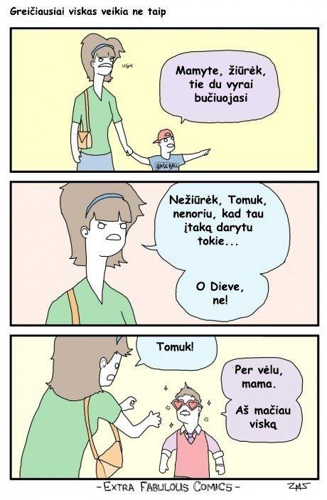 Žiauriai kvaili komiksai, kuriuos pamatę negalėsite nustoti juoktis