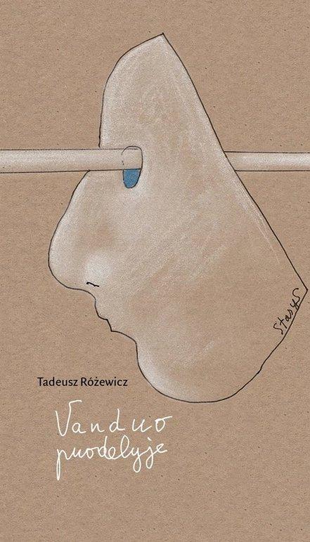 """Poezijos rinktinės """"Vanduo puodelyje"""" viršelis (Leidykla """"Apostrofa"""", 2017; Sudarė ir išvertė Eugenijus Ališanka, iliustravo Stasys Eidrigevičius)"""