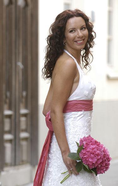 Brangiausia J. Žilėnienes sukurta vestuvinė suknelė