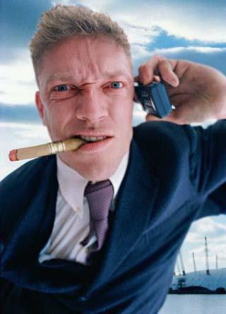 Vyras su telefonu