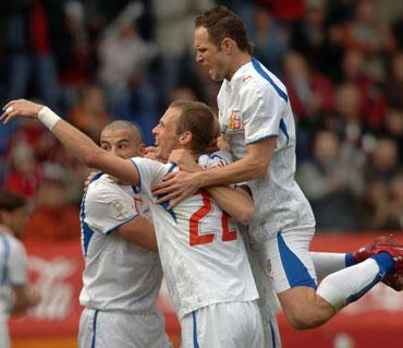 Čekijos futbolininkai