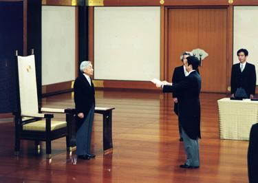 Japonijos imperatorius Akihito ir premjeras Sh.Abe
